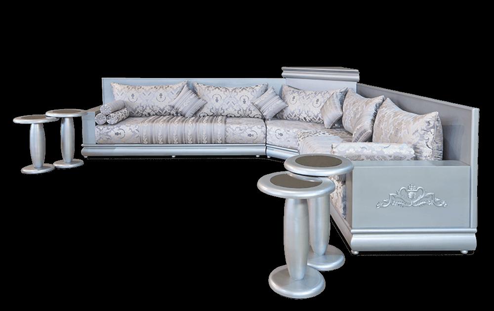 Salon Marocain Moderne Argente Bonbino Confort